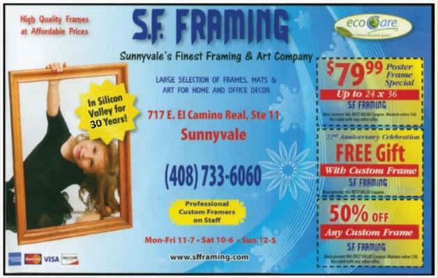 Custom Picture Frames | Sunnyvale, Santa Clara, Cupertino, Mountain View, Los Altos, Los Gatos, San Jose, Silicon Valley.